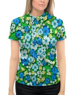 """Рубашка Поло с полной запечаткой """"Цветы"""" - цветы, весна, природа, зелень, трава"""