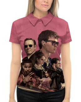 """Рубашка Поло с полной запечаткой """"Baby Driver"""" - музыка, девушки, знаменитости, оружие, малыш на драйве"""