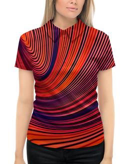 """Рубашка Поло с полной запечаткой """"Цветные полосы"""" - узор, рисунок, полосы, линии, цветные краски"""