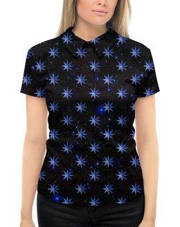 """Рубашка Поло с полной запечаткой """"ЗВЕЗДОПАД"""" - звезды, космос, абстракция, стиль эксклюзив креатив красота яркость, арт фэнтези"""