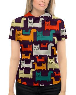 """Рубашка Поло с полной запечаткой """"Спящие котики"""" - кот, животные, прикольные коты, спящие котики"""