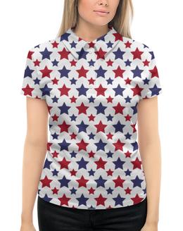 """Рубашка Поло с полной запечаткой """"STARS"""" - арт, стиль, дизайн, графика"""