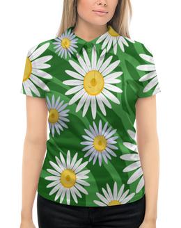 """Рубашка Поло с полной запечаткой """"Ромашки"""" - цветы, весна, природа, ромашки"""
