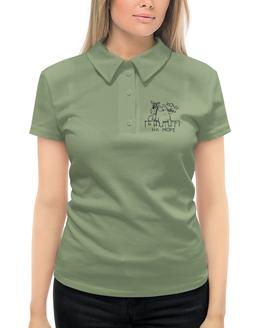 """Рубашка Поло с полной запечаткой """"Хочу на море"""" - кот, котомка, хотелки, море, юмор"""