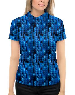 """Рубашка Поло с полной запечаткой """"Символы"""" - знаки, символы, матрица, буквы, коды"""