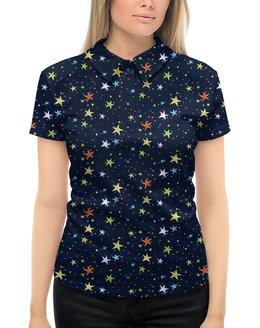 """Рубашка Поло с полной запечаткой """"ЗВЕЗДОПАД"""" - космос, абстракция, стиль эксклюзив креатив красота яркость, арт фэнтези"""