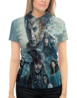 """Рубашка Поло с полной запечаткой """"Пираты Карибского моря"""" - johnny depp, джек воробей, пираты карибского моря, джонни деп"""