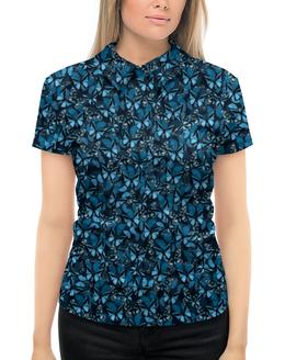 """Рубашка Поло с полной запечаткой """"Papilionidae"""" - бабочки, природа, текстура, фон"""