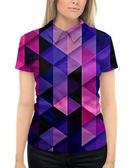 """Рубашка Поло с полной запечаткой """"цветпарад"""" - абстракция, цветные, геометрия, abstraction, треугольники"""