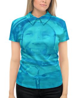 """Рубашка Поло с полной запечаткой """"Юрий Гагарин"""" - космос, гагарин, полет, летчик, космонавт"""