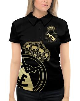 """Рубашка Поло с полной запечаткой """"Реал Мадрид"""" - реал мадрид, реал, футбольный клуб, real madrid, футбол"""