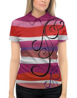 """Рубашка Поло с полной запечаткой """"абстракция"""" - абстракция, купить, футболку, женскую, разноцветная"""