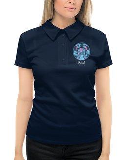 """Рубашка Поло с полной запечаткой """"Lilo & Stich (Stich)"""" - лило и стич, стич, мультфильм, дисней, пришелец"""