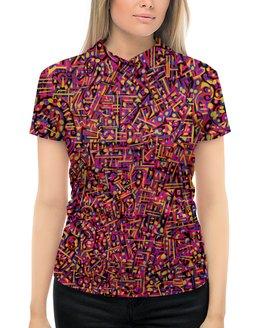 """Рубашка Поло с полной запечаткой """"Карамель."""" - арт, узор, абстракция, текстура"""