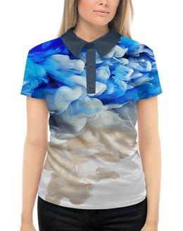 """Рубашка Поло с полной запечаткой """"фантазия"""" - абстракция, 3д, дым"""
