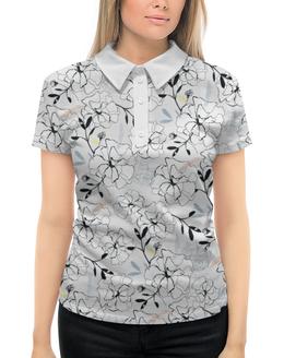 """Рубашка Поло с полной запечаткой """"Цветы"""" - цветы"""