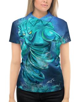 """Рубашка Поло с полной запечаткой """"Morphling"""" - morphling, дота 2, компьтерная игра dota 2"""