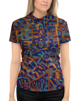 """Рубашка Поло с полной запечаткой """"y7t6ggjlla11zzz"""" - арт, узор, абстракция, фигуры, текстура"""