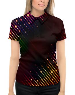 """Рубашка Поло с полной запечаткой """"Блеск"""" - краски, свет, блеск, искры, блестки"""