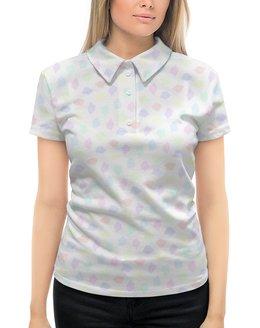 """Рубашка Поло с полной запечаткой """"Пастельная мозаика"""" - мозаика, пастель"""