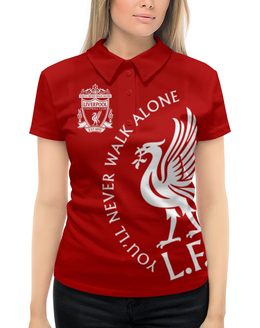 """Рубашка Поло с полной запечаткой """"Ливерпуль"""" - you ll never walk alone, ливерпуль, liverpool, футбольный клуб, футбол"""