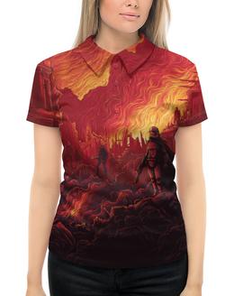 """Рубашка Поло с полной запечаткой """"Звездные войны"""" - звездные войны, фантастика, дарт вейдер, кино, star wars"""