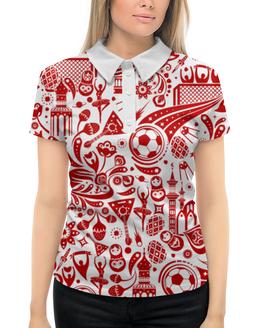 """Рубашка Поло с полной запечаткой """"Футбол"""" - футбол, спорт, 2018"""