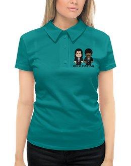 """Рубашка Поло с полной запечаткой """"Pulp Fiction"""" - тарантино, культовое кино, джон траволта, сэмюэл лерой джексон, криминальное чтиво"""