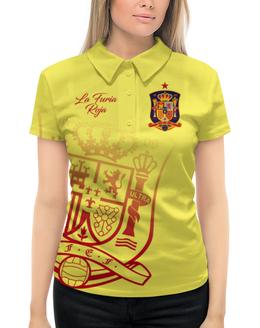 """Рубашка Поло с полной запечаткой """"Сборная Испании"""" - команда испании, сборная испании по футболу, сборная испании, футбол, испания"""