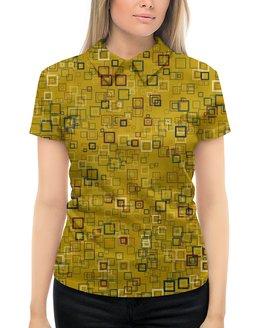 """Рубашка Поло с полной запечаткой """"Квадраты"""" - квадрат, яркий"""
