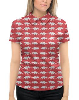 """Рубашка Поло с полной запечаткой """"Трицератопсы"""" - арт, хобби, динозавры, трицератопсы, рисунок"""