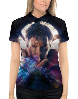 """Рубашка Поло с полной запечаткой """"Доктор Стрэндж"""" - marvel, мстители, марвел, доктор стрэндж, doctor strange"""
