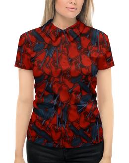 """Рубашка Поло с полной запечаткой """"Вишня"""" - листья, ягоды, вишня, природа, плоды"""