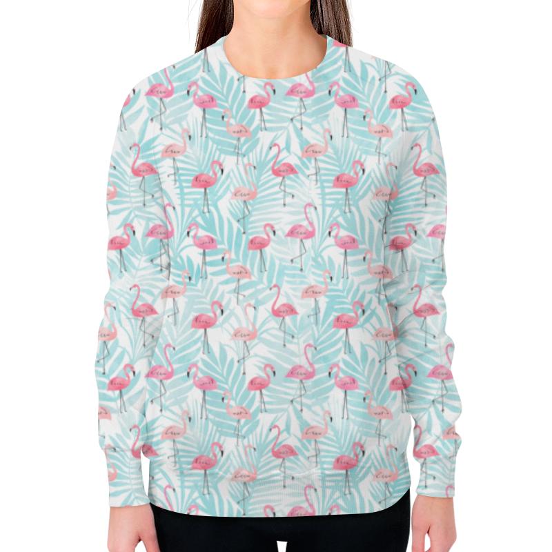 Свитшот женский с полной запечаткой Printio Фламинго женский гардероб