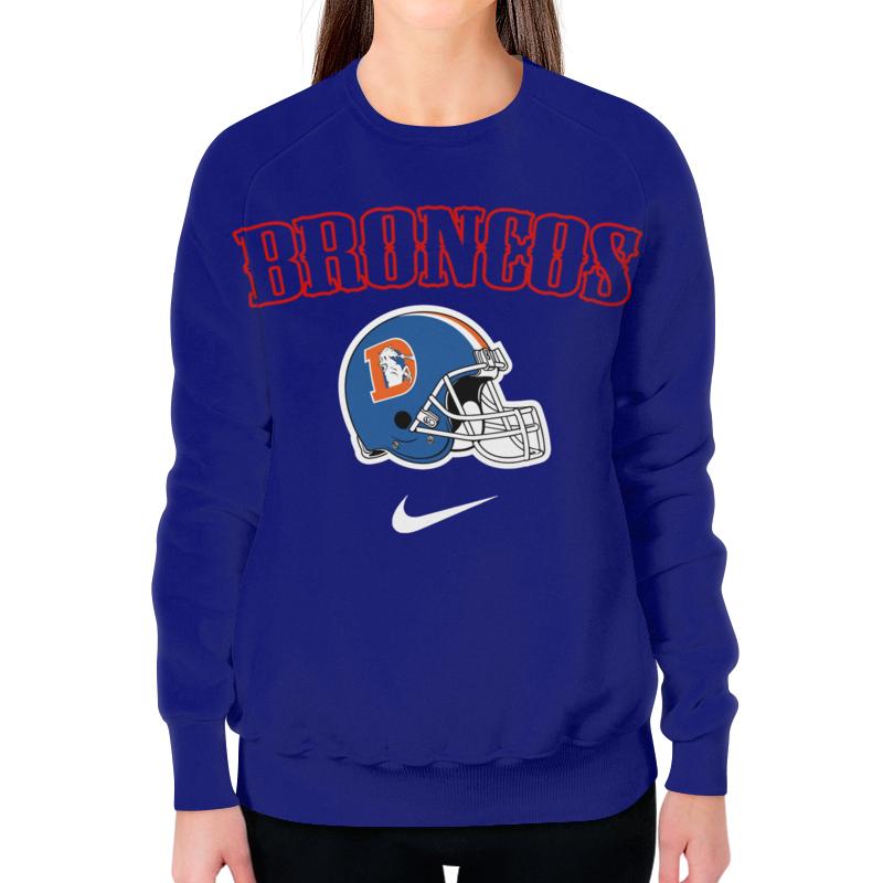 Свитшот женский с полной запечаткой Printio Broncos футболка print bar denver broncos денвер бронкос