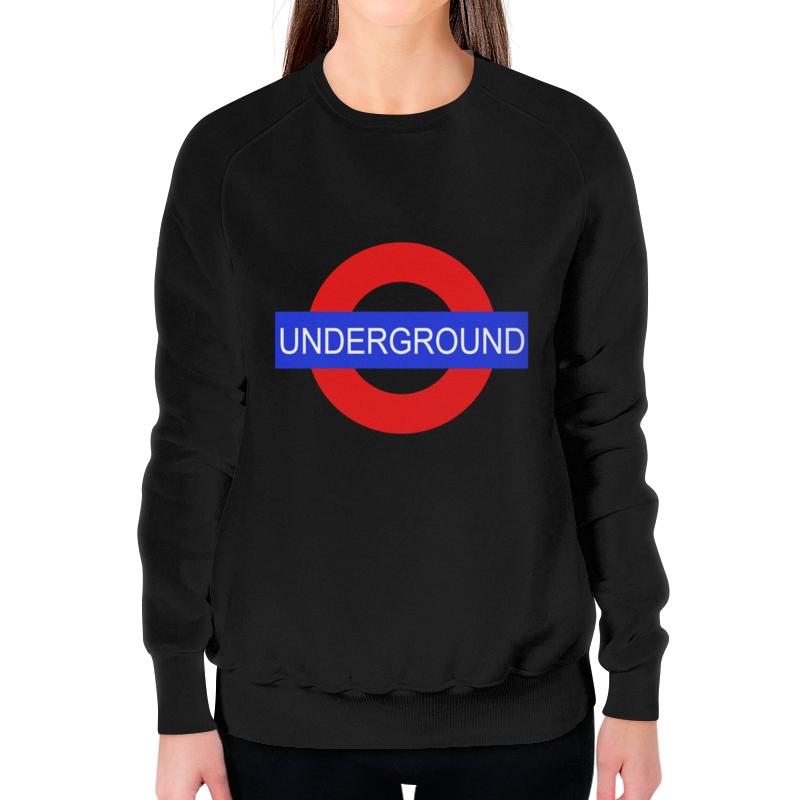 Свитшот женский с полной запечаткой Printio Underground свитшот унисекс с полной запечаткой printio underground