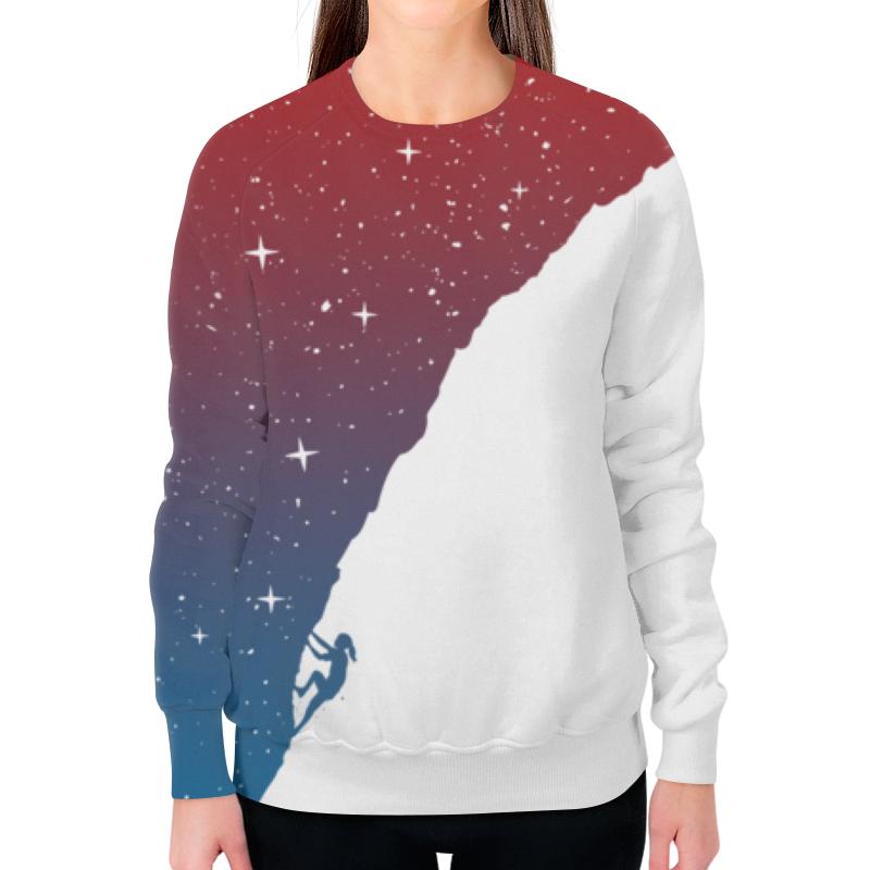 Свитшот женский с полной запечаткой Printio Звездная гора свитшот print bar гора