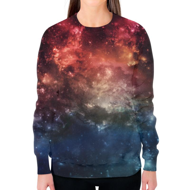 Printio Космос свитшот женский с полной запечаткой printio юпитер