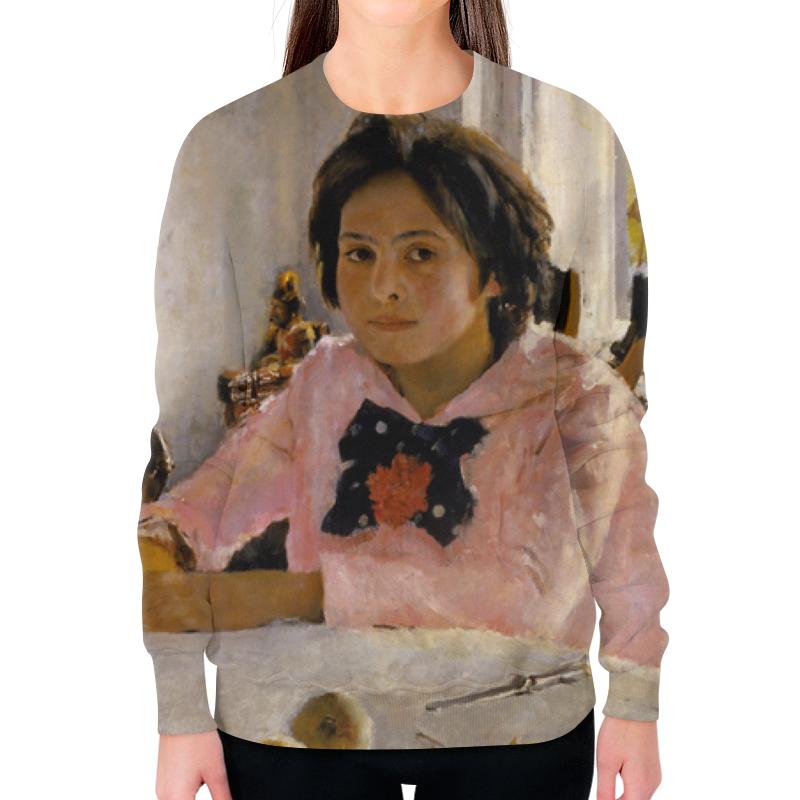 Свитшот женский с полной запечаткой Printio Девочка с персиками футболка с полной запечаткой мужская printio девочка с персиками