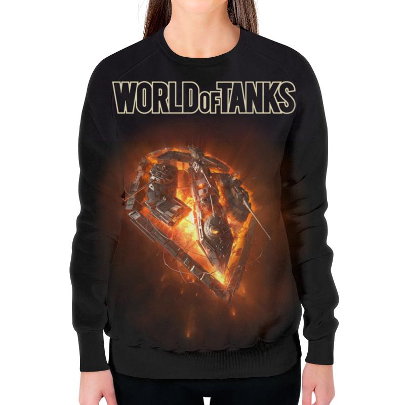 Свитшот женский с полной запечаткой Printio World of tanks цена