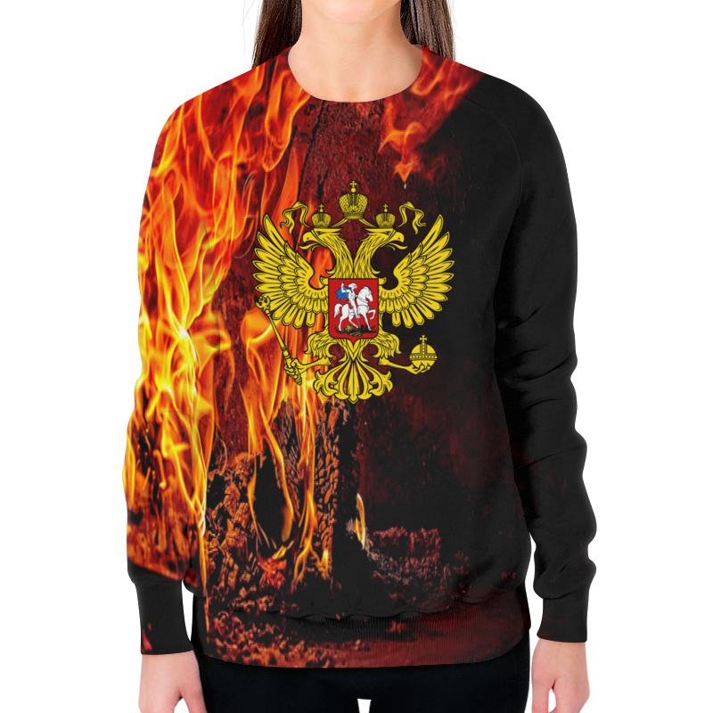 Фото - Свитшот женский с полной запечаткой Printio Россия свитшот унисекс с полной запечаткой printio алфавит