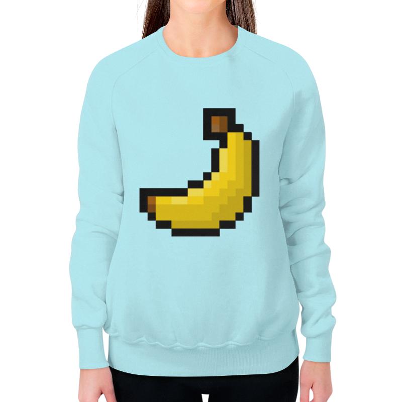 Свитшот женский с полной запечаткой Printio Пиксельный банан свитшот унисекс с полной запечаткой printio банан