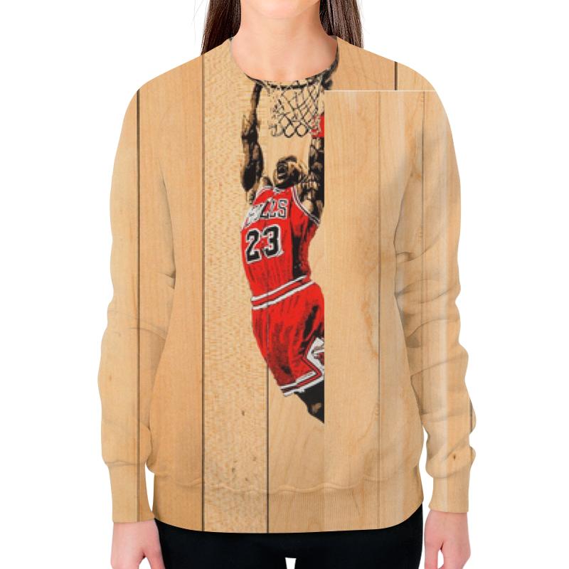Свитшот женский с полной запечаткой Printio Майкл джордан (michael jordan) баскетбольные кроссовки nike air jordan jordan 11 legend blue aj11 378037 378038 117