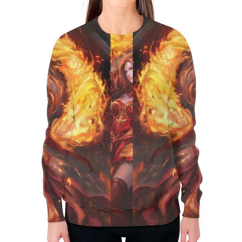 Свитшот женский с полной запечаткой Printio Dota 2: лина футболка с полной запечаткой мужская printio dota 2 lina on fire page 7