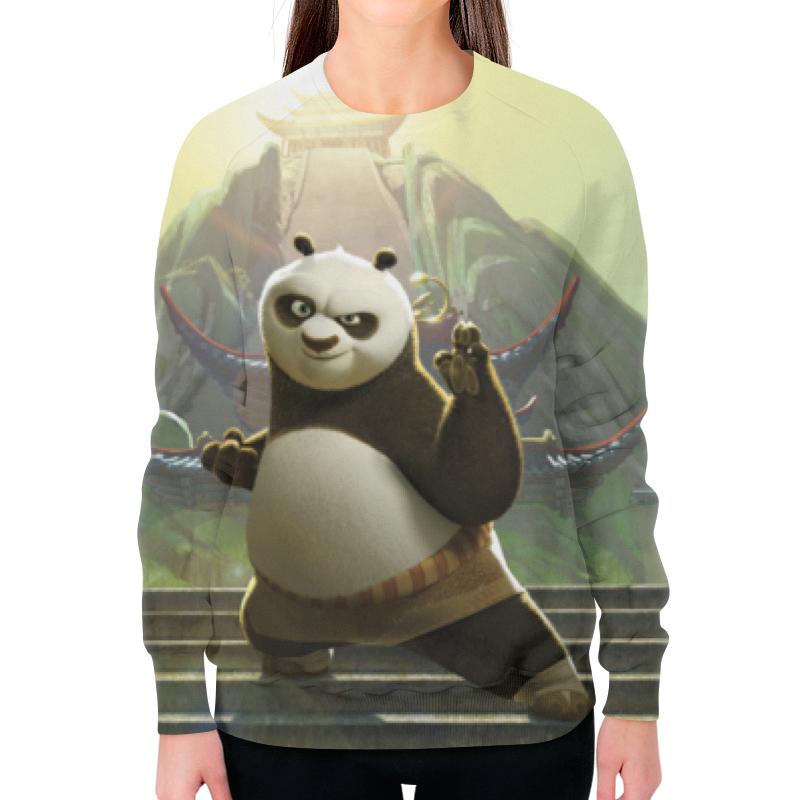Свитшот женский с полной запечаткой Printio Кунг-фу панда цена и фото