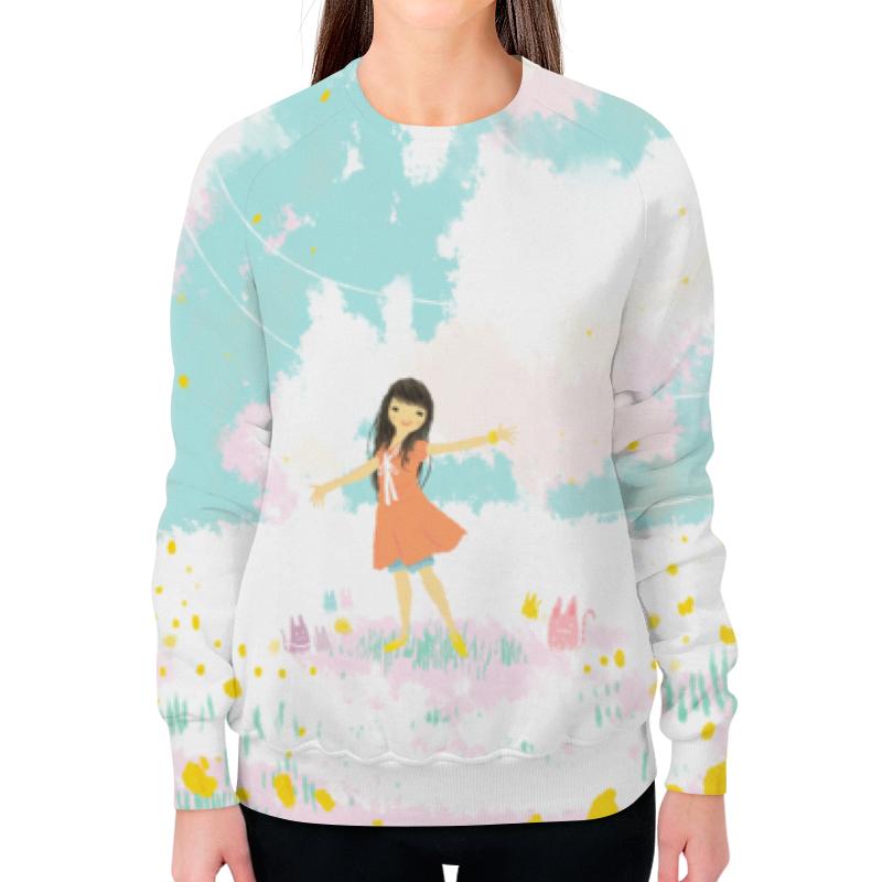 Свитшот женский с полной запечаткой Printio Аниме девушка футболка с полной запечаткой printio аниме девушка