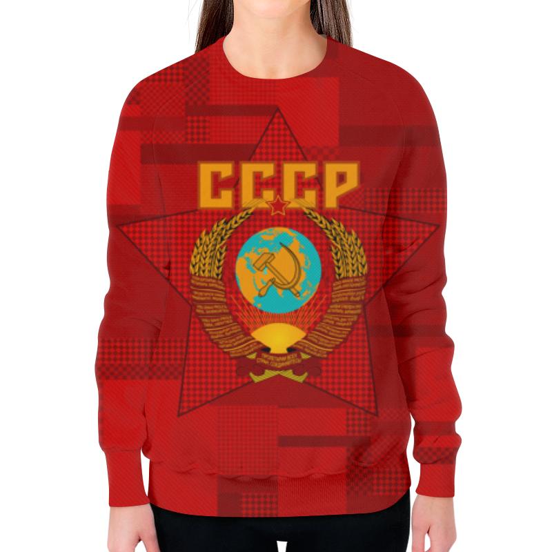 цена на Свитшот женский с полной запечаткой Printio Советский союз