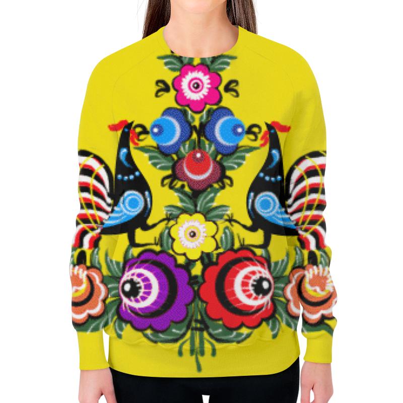 Свитшот женский с полной запечаткой Printio Городецкая роспись женский гардероб