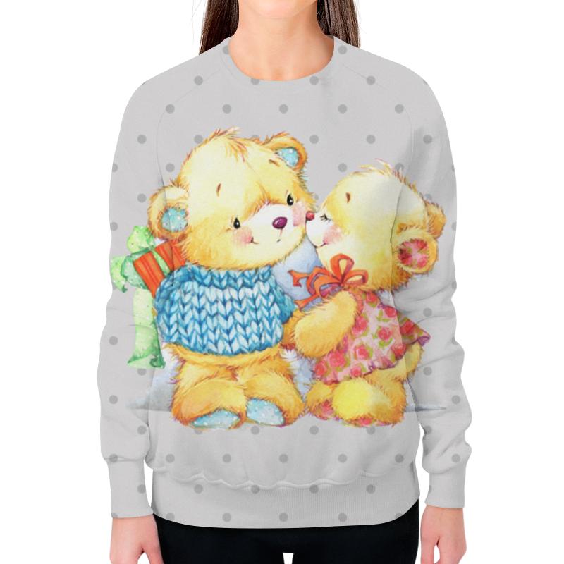 Свитшот женский с полной запечаткой Printio Романтичные мишки свитшот унисекс с полной запечаткой printio мишки панда