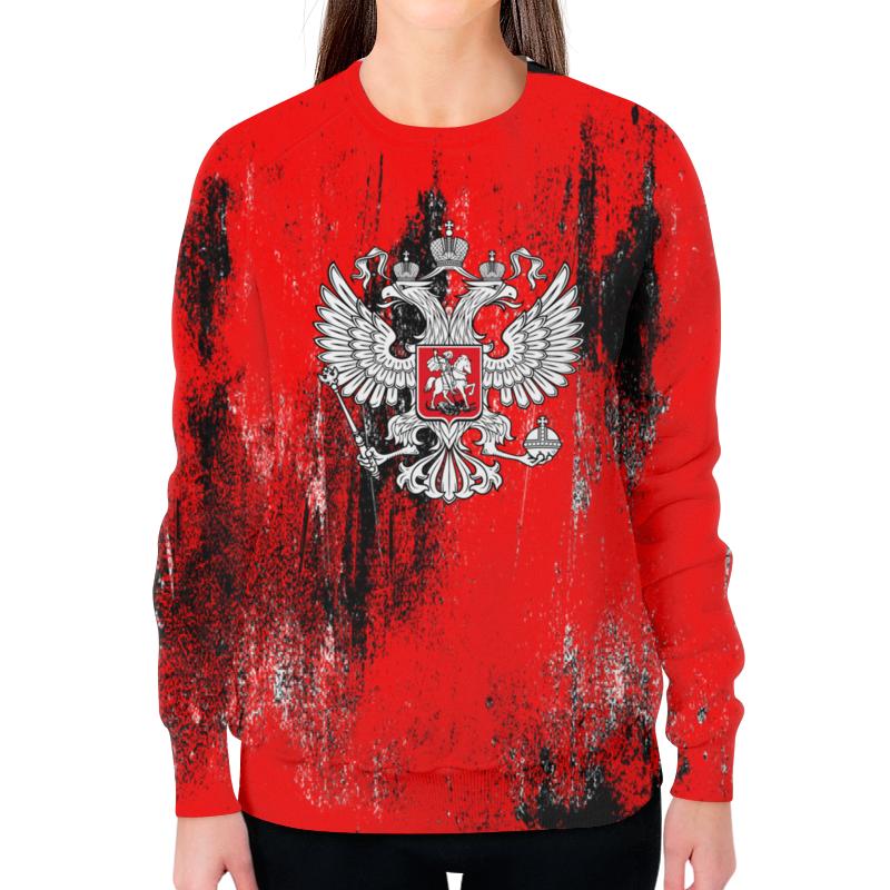 Свитшот женский с полной запечаткой Printio Россия цена и фото